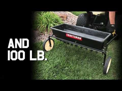 Craftsman Tractor Attachments - 100lb Aerator Spreader