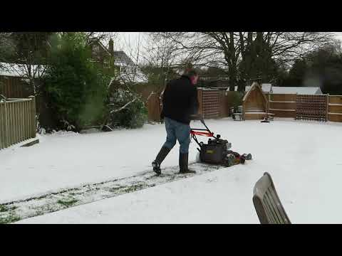 Can I use my mower as a snow blower?