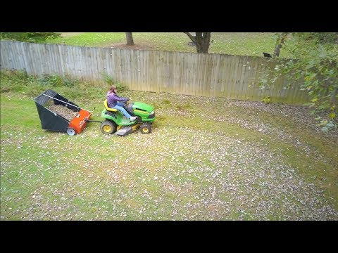 Make Like A Tree.... Agri-Fab Lawn Sweeper: Assembly, use, and review