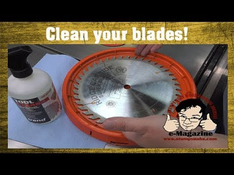 You NEED TO KNOW how I clean my table saw blades (and where to get them sharpened)
