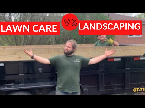 Landscaping vs lawn care