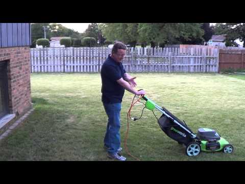 How to Use an Electric Lawn Mower - Electric Corded Lawn Mower